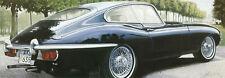 British Black by Francis Brook Art Print Jaguar Car Poster 31.5x12