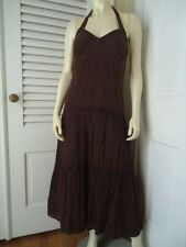 Tommy Hilfiger Dress 8 Ankle Full Length Peasant Hippie Halter Style Lined