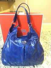NWOT COACH MADISON Patent LEATHER MAGGIE SHOULDER BAG PURSE Ultramarine 21238