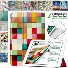 DuraSafe Case iPad Mini 4 , 5 , 3 / 2 / 1 Soft Back Cover Printed Color Grid +