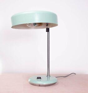 Vintage Retro Mid Century Soviet USSR/CCCP Light Blue/ Mint Green Desk Lamp