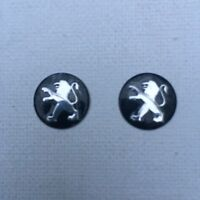2 x 14mm PEUGEOT Replacement Key Fob Badge Sticker