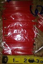 """KNEX Red Micro Rods Lot Of 62 Bulk Standard Replacement Parts 2.5"""" 2 1/2"""""""
