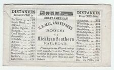 RARE RR Cover c 1850 Michigan Southern Railroad Great American US Mail & Express