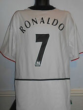 Manchester United Away Football Shirt (2002/2003 * Ronaldo 7) XL Men's #244