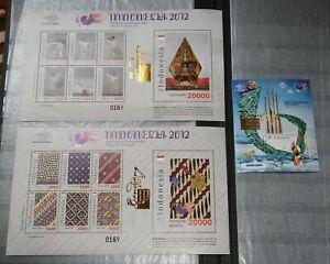 Indonesia 2013 Bandoeng Blocksatz overprinted s/sh set of 3 **/ mnh RAR !!