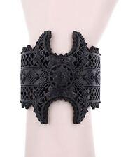 Restyle Henna Oriental Lace Pattern Symbol Silver Occult Witch Bracelet
