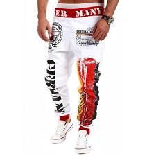 Men Casual Harem Pants Trousers Baggy Sweatpants Dance Jogger Athletic Slacks US