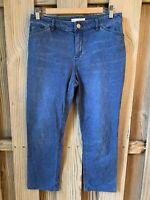 J JILL 8P Denim Skinny Jeans Tried True Slim Fit Blue Stretch Leggings Ankle