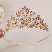 5cm hoch Blatt Gold Hochzeit Braut Haarschmuck Haarreif Krone Diademe Tiara