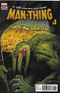 Man-Thing Comic 1 Cover A Tyler Crook First Print 2017 R.L. Stine German Peralta