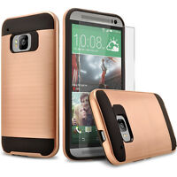 HTC One M9 Case, Dual Layers Hybrid Shockproof Case+Screen Protector+Stylus