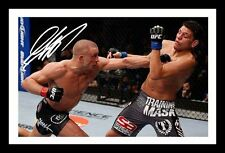 GEORGES ST PIERRE AUTOGRAPHED SIGNED & FRAMED PP POSTER PHOTO