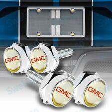 Car License Plate Frame Screw Bolt Cap Cover Screw Bolts Nuts Set For GMC 4 PCS