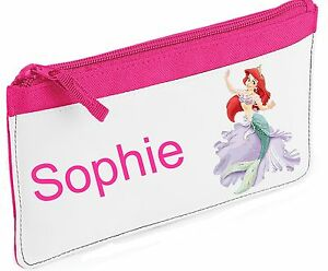 Personalised Little Mermaid/ Princess Pencil Case.  Choice of colours