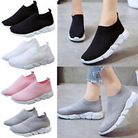 Women's Sports Running Shoes Casual Trainers Slip On Tennis Breathable Sneakers