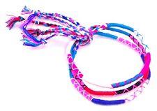 Lot 3 Bracelets Brésiliens de l'Amitié Macramé coton Porte Bonheur multicouleur