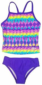 Speedo Girl's Sporty Splice Tankini Swimsuit -Sizes: 7, 8, 10, 12, 14, 16  AB-24
