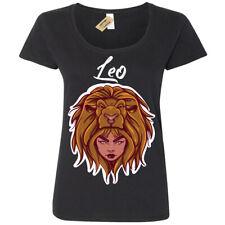Leo T-Shirt Star sign horoscope Womens Ladies Scoop
