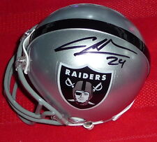 CHARLES WOODSON Raiders Autographed Mini Helmet including BDS COA #2770