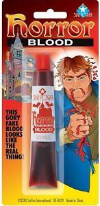 1 Tube Of Liquid Fake Blood Halloween Accessory Vampire Zombie Horror