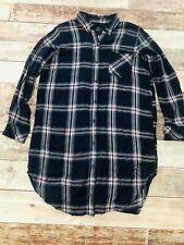 Rails Blair Plaid Tunic Button Down Shirt Dress Flannel M