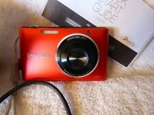 Samsung ST72 Red 16.2MP Digital Camera Pictures Video Point & Shoot Original Box