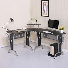 "65"" L-Shape Computer Desk Laptop Workstation Space Saving Home Office Use Wood"
