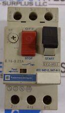 Telemecanique GV2-M02 .16 -.25 Amp Manual Motor Starter