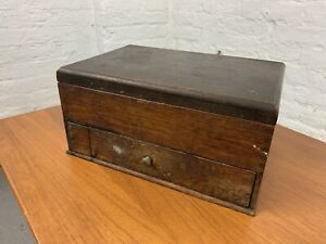 Victorian Butlers Cutlery Box / Tray Antique Candle Box