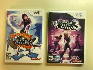 PS3 Dance Lot - Dance Dance Revolution Hottest Party 2 & 3 with Manuals 2 games