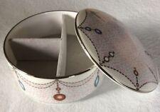 LEAH Trinket / Jewelry Box by Prouna -Fine Bone China -  New in Original Box