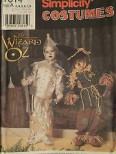 SIMPLICITY 7814 Wizard of Oz COSTUMES PATTERN Childs 3-8 Tin Man & Scarecrow UC