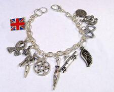 sherlock holmes inspired bracelet SuperWhoLock style Charm Bracelet silver tone