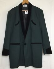 TEDDY BOY DRAPE JACKET DARK GREEN 1950s TRADITIONAL ROCK 'N' ROLL NEW SIZE RANGE