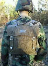 Nva-East-German-Military- Backpack-With-Straps-Rain- Pattern Camo Small Rucksack