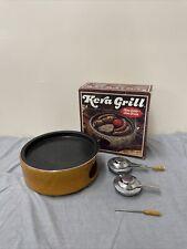 Vintage W German Scheurich Pottery Kera Grill Indoor Outdoor Table Top Grill FS