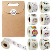 500pcs/roll Fashion Handmade DIY Thank You Stickers Gift Scrapbooking Gift Decor