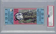 JOE MONTANA NOTRE DAME SIGNED & INSCRIBED 1979 COTTON BOWL FULL TICKET