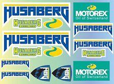 15x HUSABERG BIKES STICKERS SPONSOR SHEET DECALS VINYL MOTOREX 4 STROKE FORCE