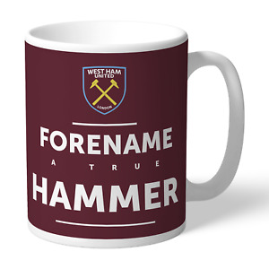 PERSONALISED West Ham United FC Gifts - True Mug - Official