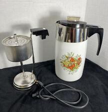 Rare Corning Ware Spice Of Life Le Cafe' 10 Cup Electric Coffee Pot ( E-1210-8)