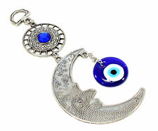Blue Evil Eye Moon Amulet Protection Wall Hanging Decor Blessing US Seller