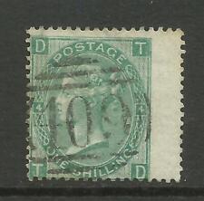 1865/7 Sg 101, 1/- Green (TD) Plate 4, Fine used. {TT1449-98}