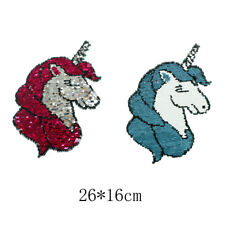 reversible change color sequins sew on patches for clothes applique HH