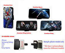Gundam Wings Inspired Robots Anime leather card phone case for Samsung iPhone