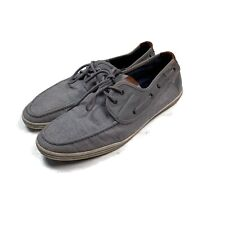 Aldo Mens Loafers Shoes Lorcan Boat Casual Driving Mocs Textile Gray Size 13