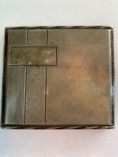 Vintage Kraft Alpacca Cigarette Case,finely designed and marked, Robert Kraft