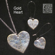 Exclusive Laser cut Acrylic/Angelina necklace & earring sets in gold - 5 designs