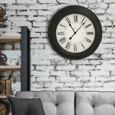 Westclox Oversized Analog Wall Clock Glass Lens Roman Numerals 24 in. Diameter